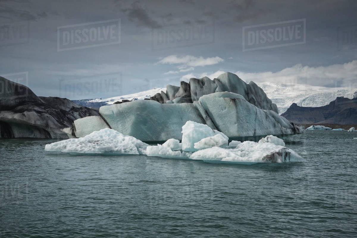 Iceberg in Jokulsarlon glaciar lagoon. Royalty-free stock photo