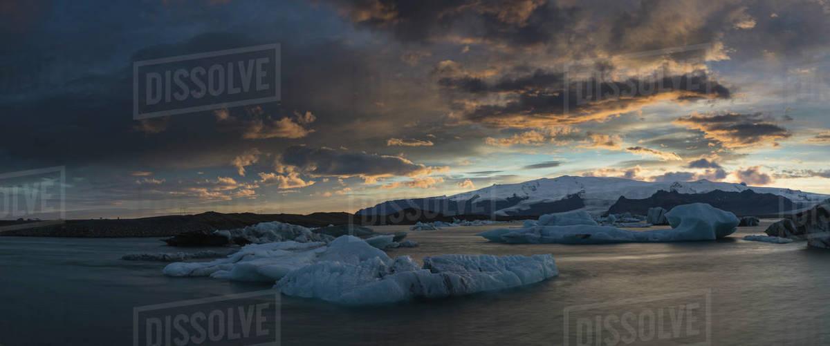 Iceberg over Jokulsarlon glaciar lagoon Royalty-free stock photo