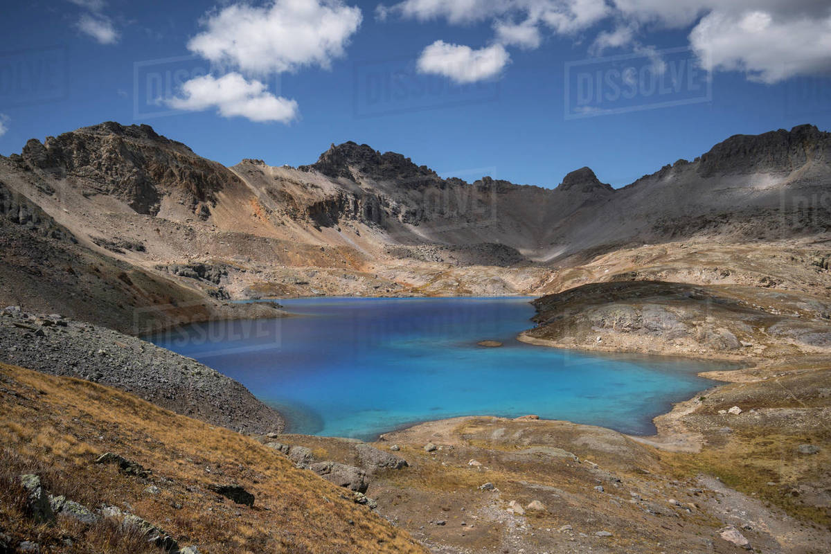 Blue lake in the mountains. Royalty-free stock photo