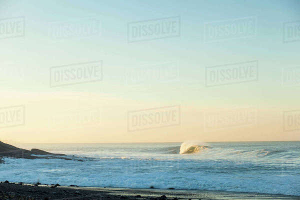 Scenic view of beach against sky Royalty-free stock photo