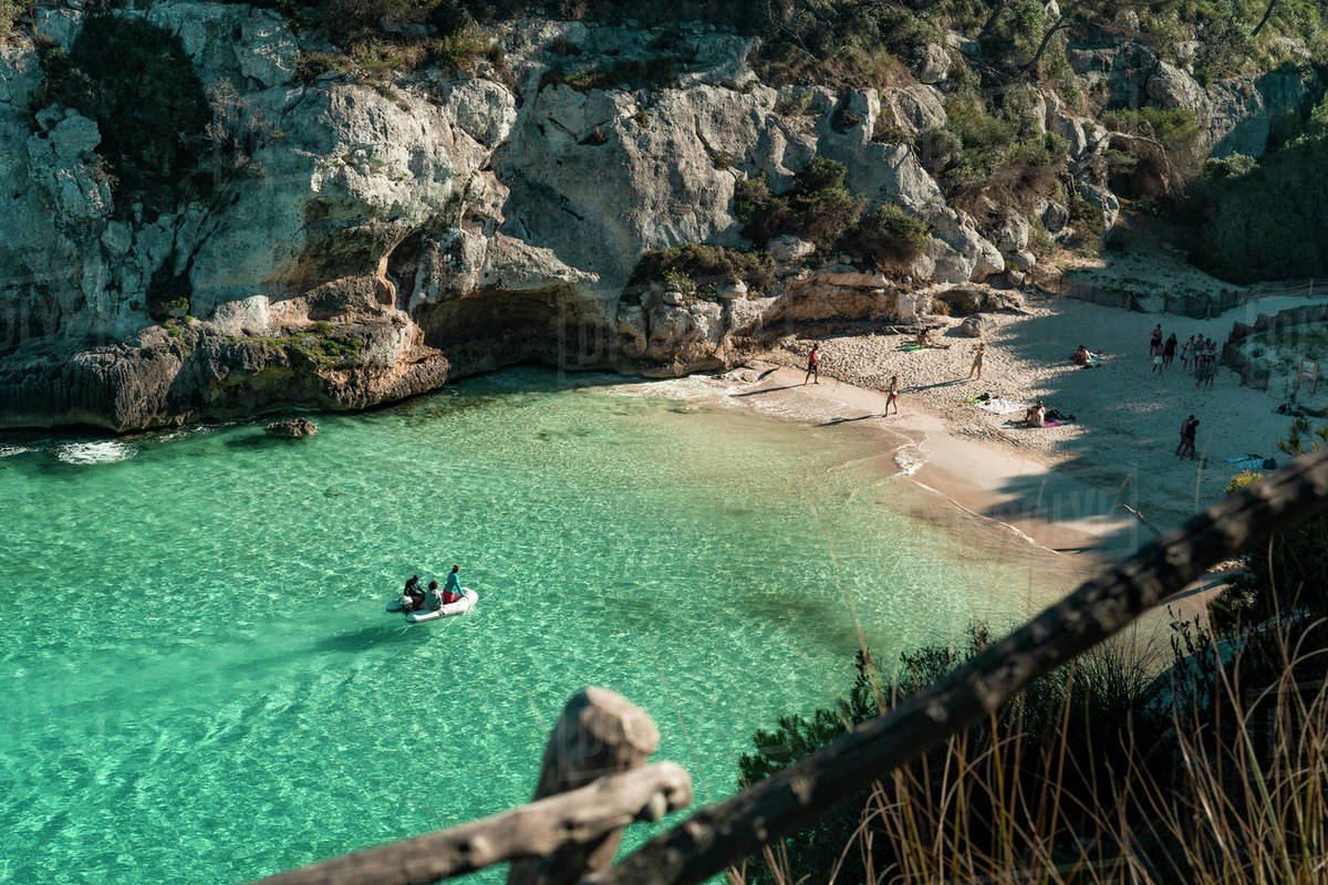 View of a cale in Menorca, Balearic Islands, Spain Royalty-free stock photo