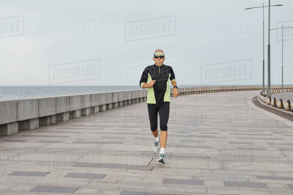 Aged Runner Working Out Royalty-free stock photo