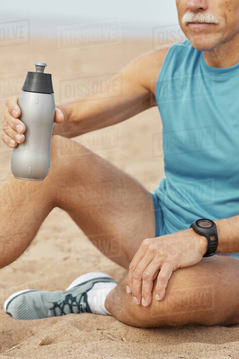 Senior Man With Bottle Of Water Royalty-free stock photo
