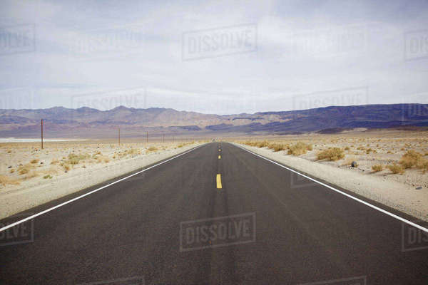 Empty road at Death Valley National Park Royalty-free stock photo