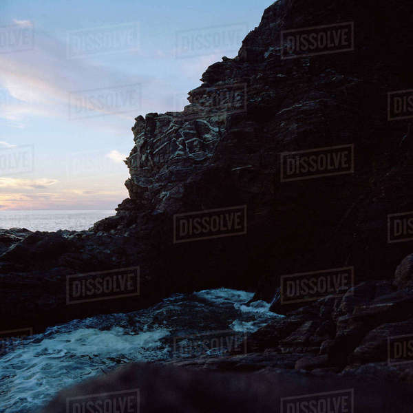 Mexico, Mazunte, Picture of rock formation Royalty-free stock photo