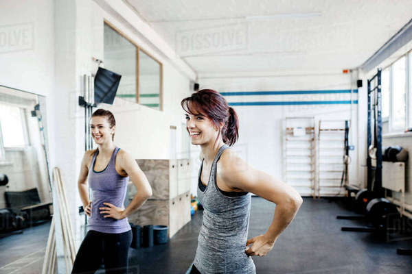 Germany, Two young women in gym Royalty-free stock photo