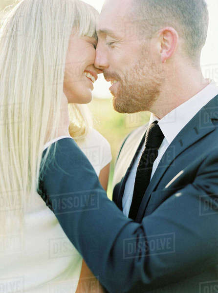 Sweden, Groom and bride kissing Royalty-free stock photo