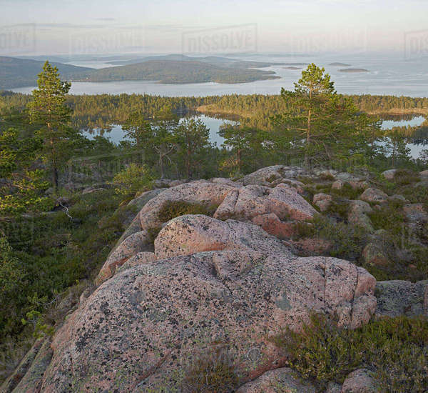 Sweden, Angermanland, Hoga kusten, Skuleskogens national park, Scenic view of landscape Royalty-free stock photo