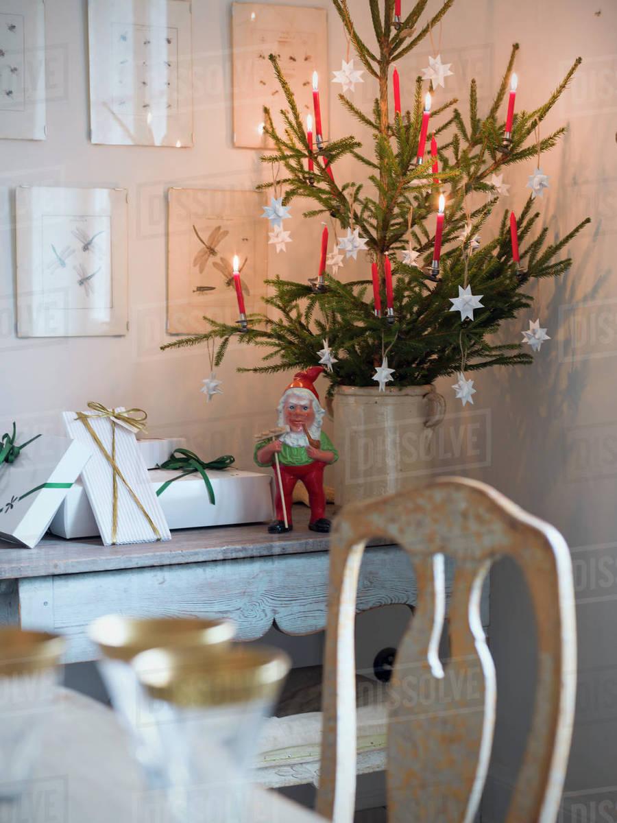 sweden christmas tree and elf figurine - Swedish Christmas Tree