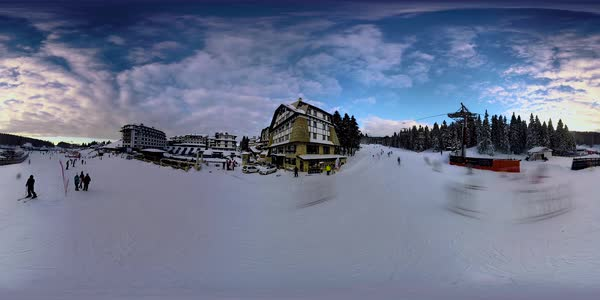 360 video of a ski resort Royalty-free stock video