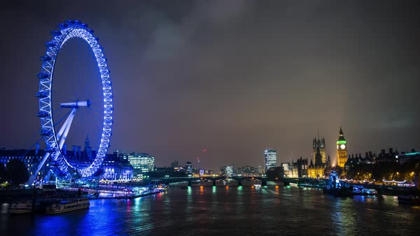 Timelapse of London city scape Royalty-free stock video