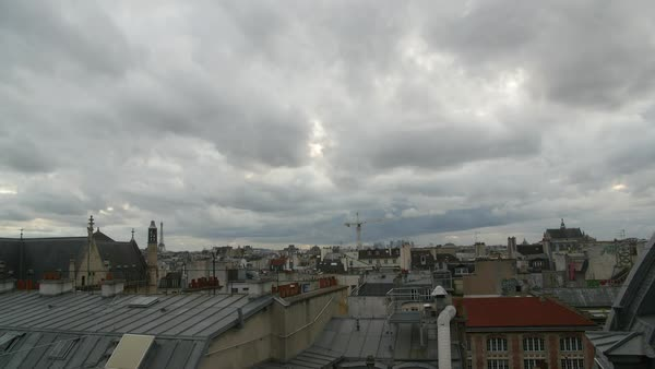 Timelapse of clouds moving over Paris Royalty-free stock video