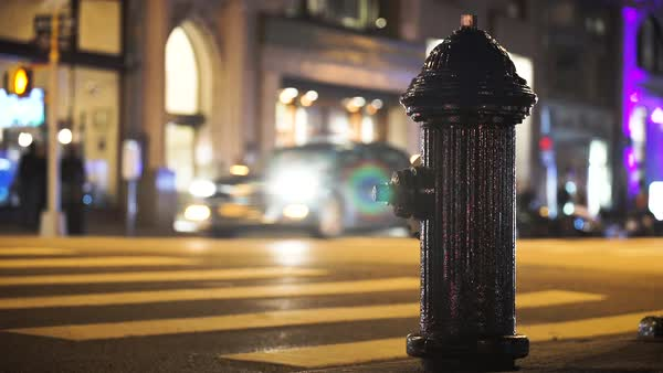 A New York City Scene at night Royalty-free stock video