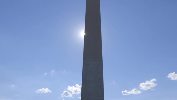 Tilt-up shot of Washington Monument Royalty-free stock video