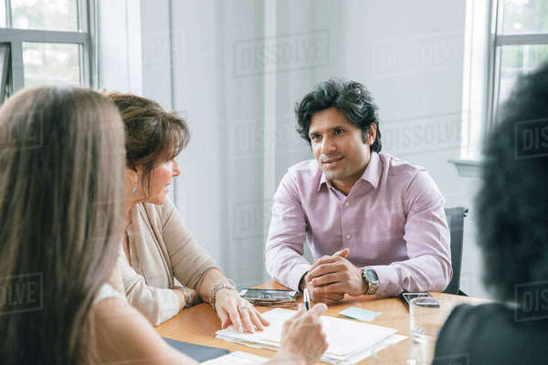 Businessman holding a meeting in a conference room Royalty-free stock photo