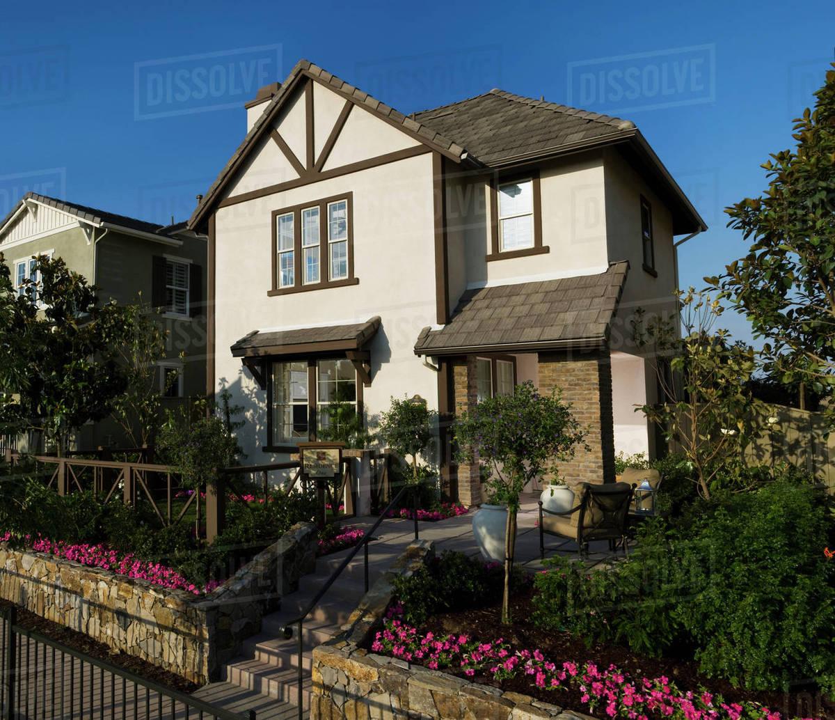 Exterior Contemporary Tudor Style Home D145 200 042