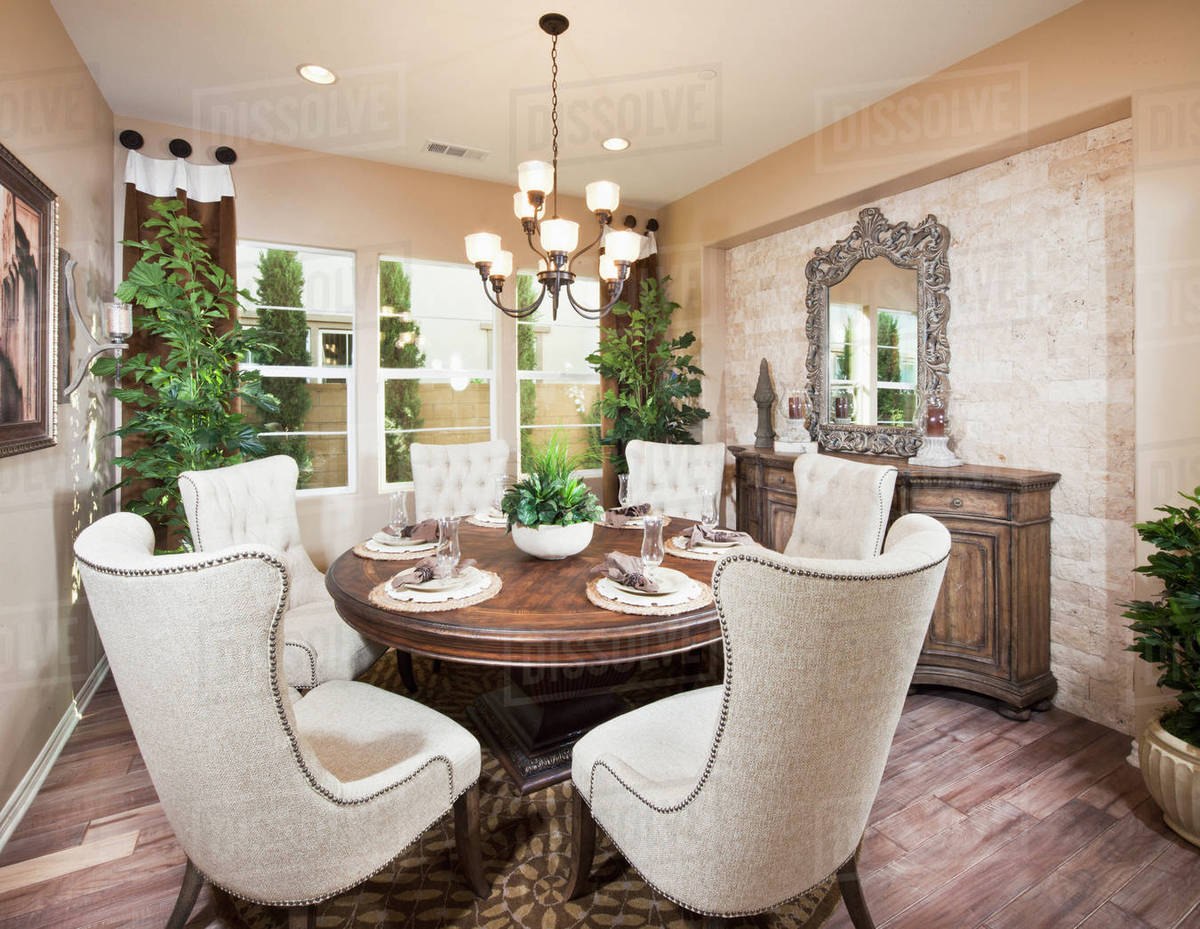 Wingback Chairs At Dining Table In, Wingback Chairs Dining Room Furniture