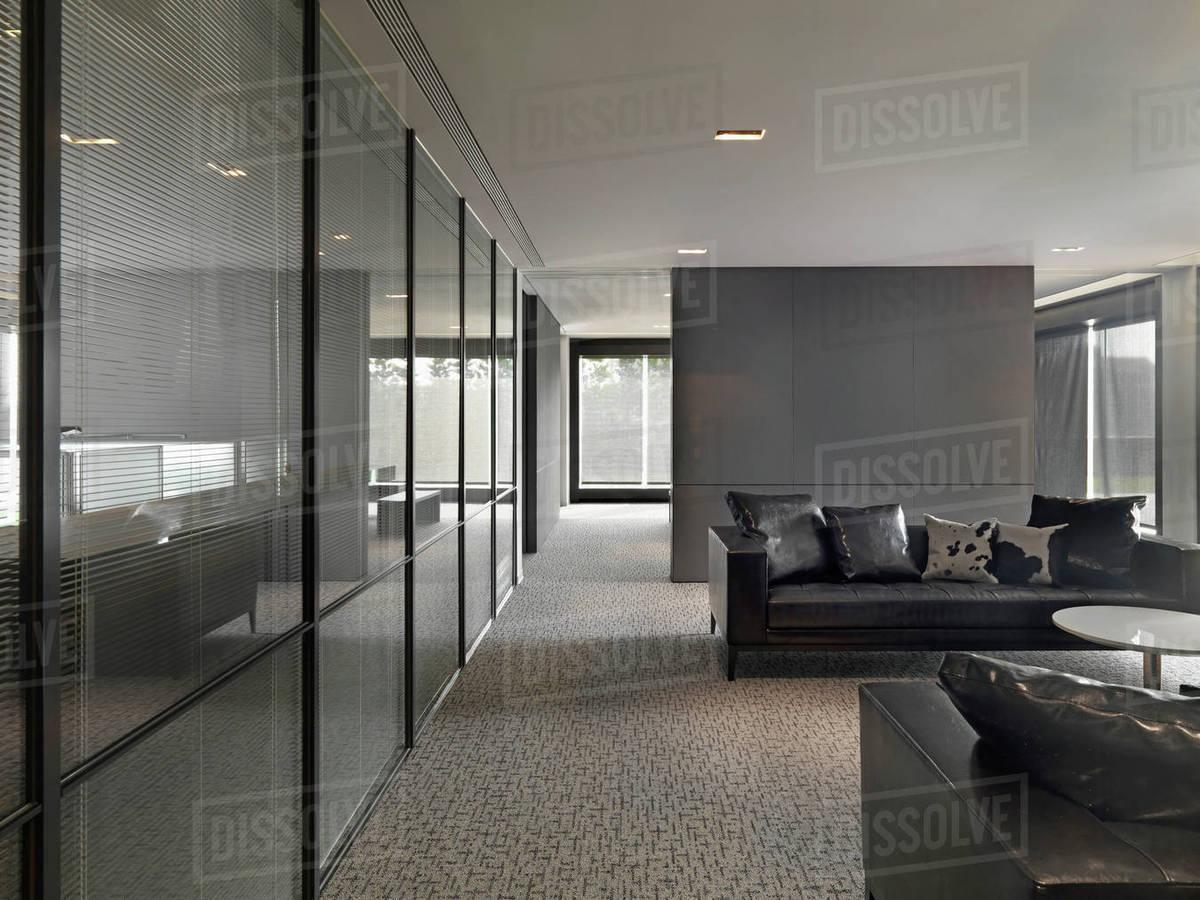 Interior of modern office lobby D145_201_696