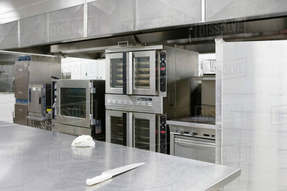 Stainless Steel Appliances In Restaurant Kitchen Stock Photo Dissolve