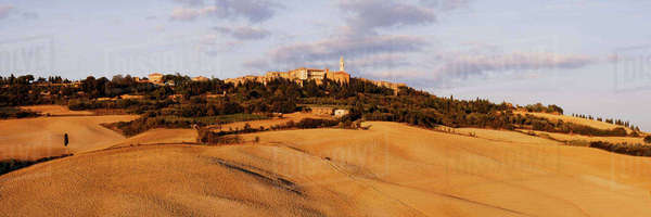 Hill Town of Pienza Royalty-free stock photo