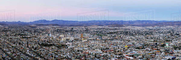 Skyline of Chihuahua from Cerro Coronel Royalty-free stock photo