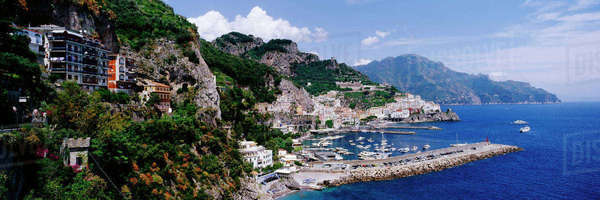 Coastal Town of Amalfi Royalty-free stock photo