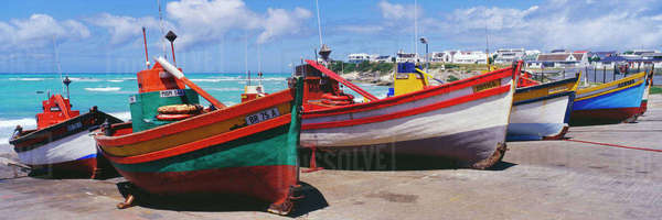 Fishing Boats at Arniston Royalty-free stock photo