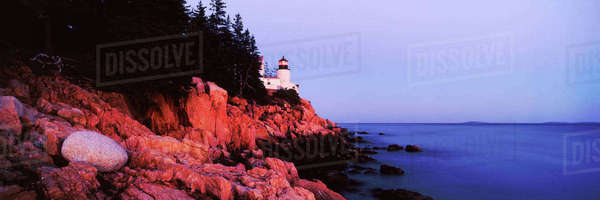 Lighthouse, Mount Desert Island, Maine, United States Royalty-free stock photo