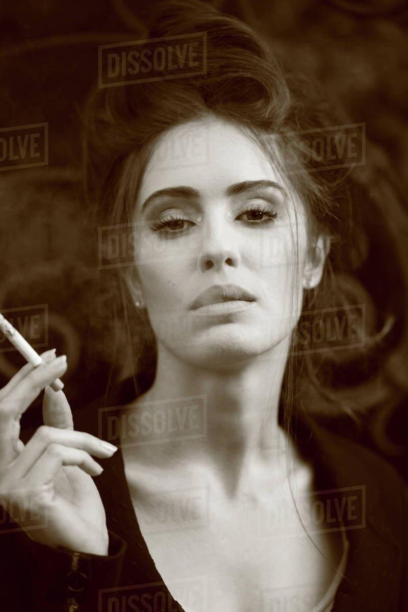 Woman Smoking Cigarettes