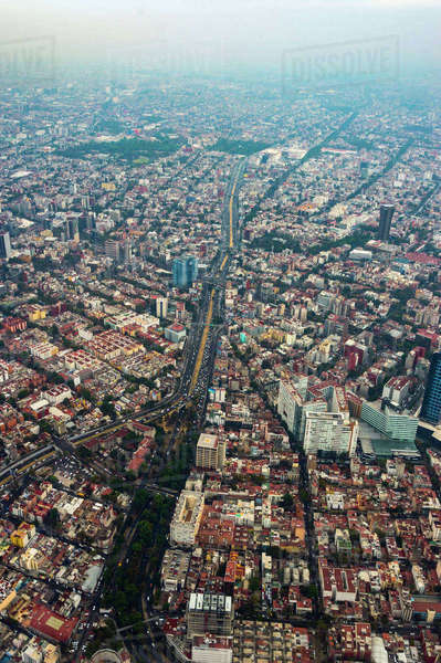 Aerial view of cityscape, Mexico City, Distrito Federal, Mexico Royalty-free stock photo