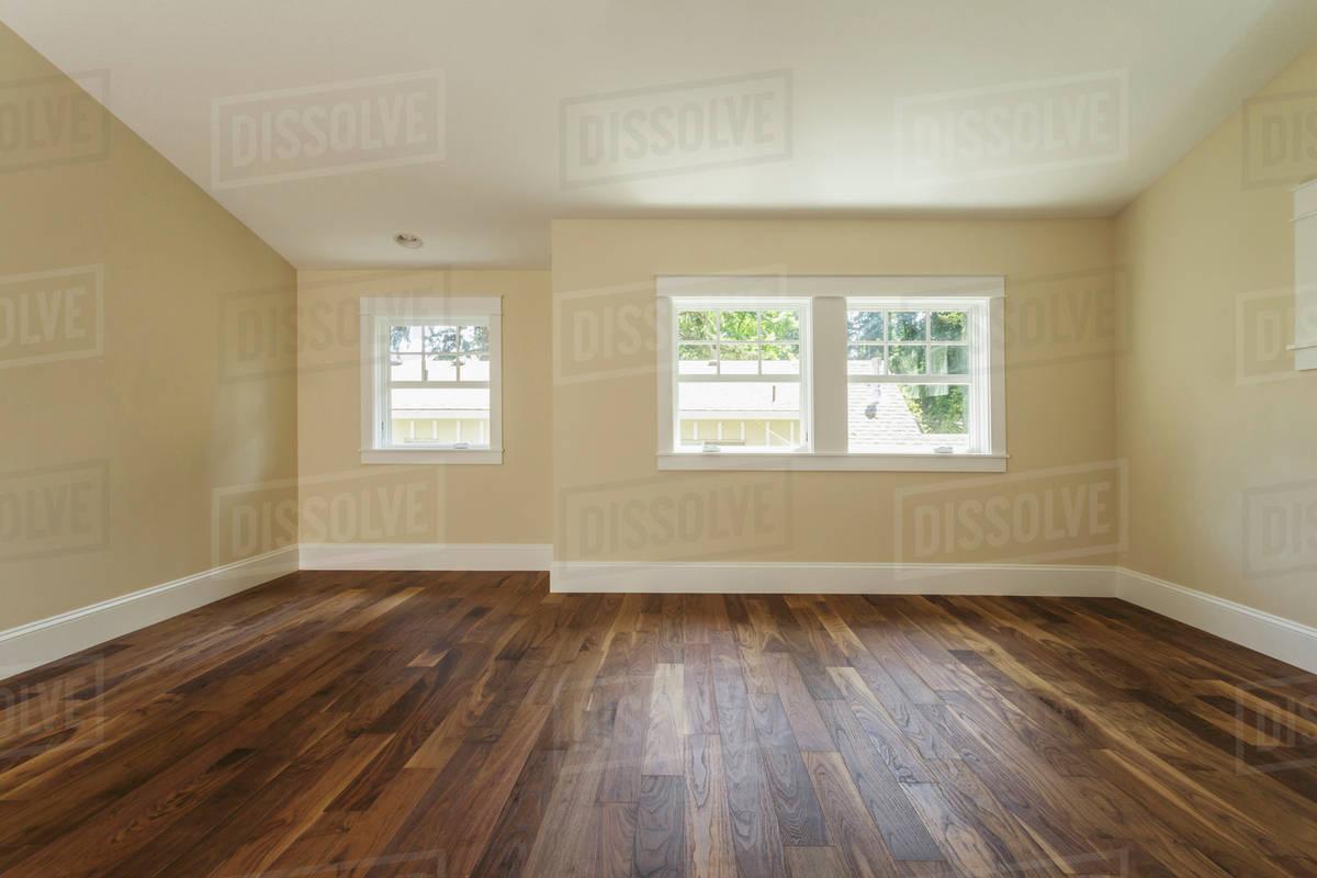 Wooden Floor In Empty Bedroom Stock Photo Dissolve