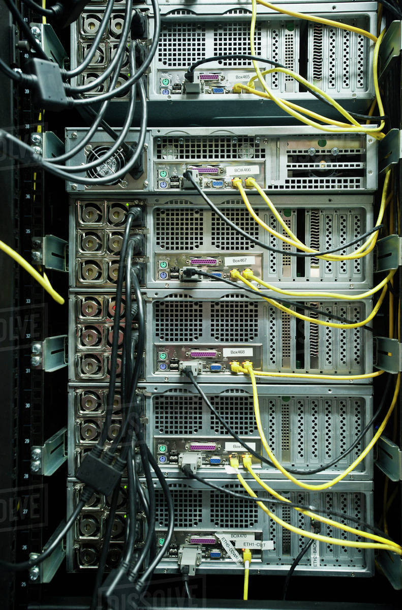Miraculous Close Up Of Server Rack And Wires Stock Photo Dissolve Wiring Digital Resources Funapmognl