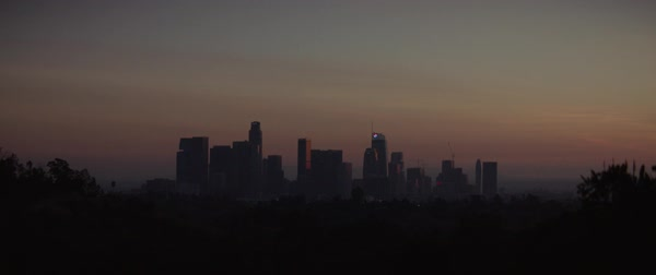 Static shot of Los Angeles cityscape during sunset, California, United States of America Royalty-free stock video