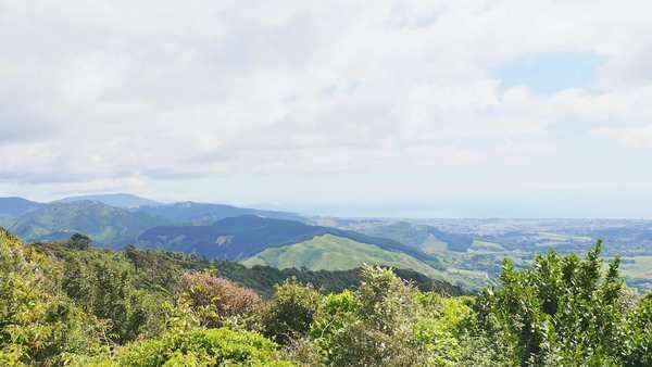 Panoramic view of New Zealand from the top of a mountain Royalty-free stock video