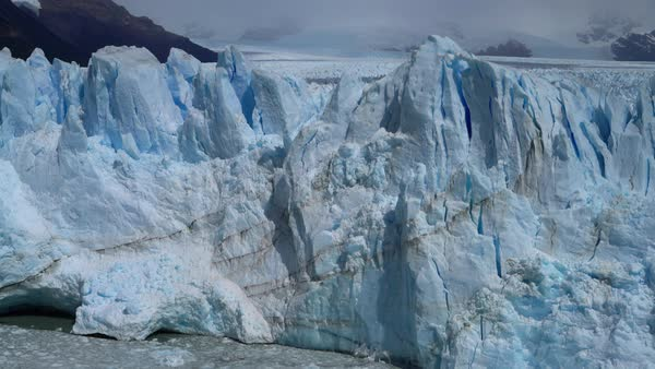 Perito Moreno Glacier blue ice from high viewpoint Royalty-free stock video