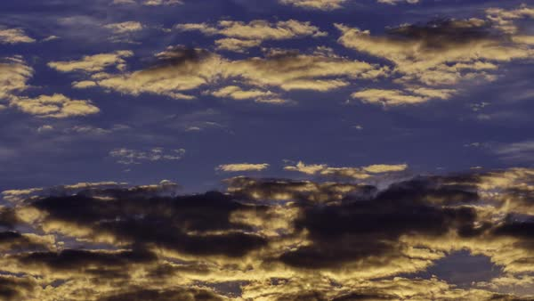 Time Lapse clouds at sunset Royalty-free stock video