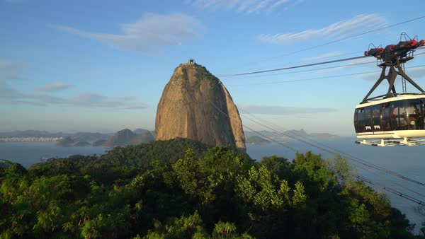 Cable Car departs for Sugar Loaf Royalty-free stock video