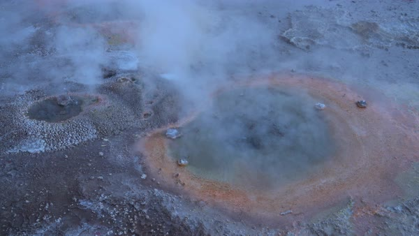 Bubbling Tatio Hot Springs Royalty-free stock video