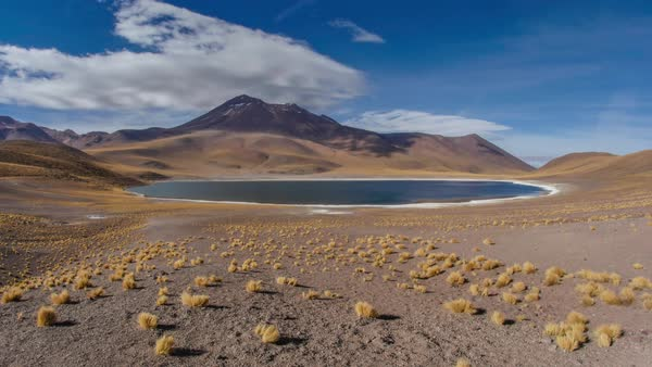 Atacama high altitude lake time lapse Royalty-free stock video