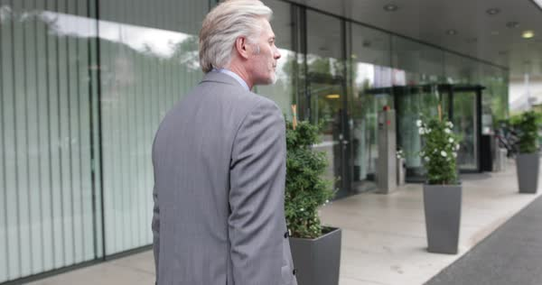 Businessman arriving at hotel Royalty-free stock video