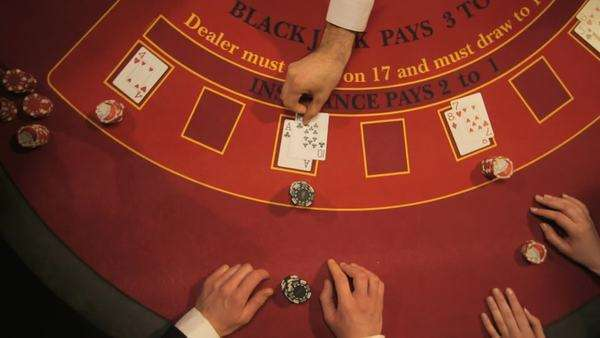 Birdseye Zoom of Players Gambling in the Casino Royalty-free stock video