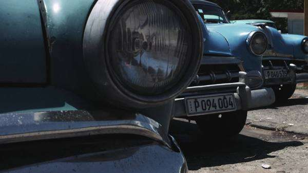 Headlight of old fashioned car, close-up Royalty-free stock video