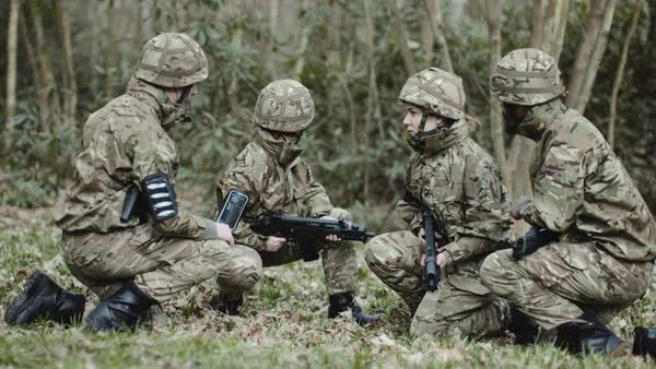 Army Exercise in Forest Royalty-free stock video