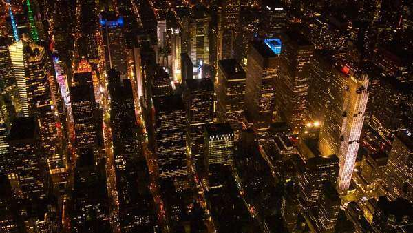 Aerial view over Midtown Manhattan, New York. Royalty-free stock video