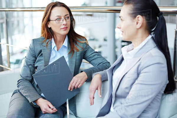 Business woman having an interview Royalty-free stock photo