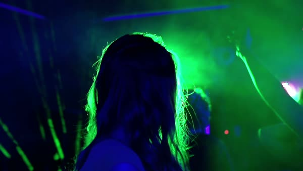Clubbers dancing at night party Royalty-free stock video