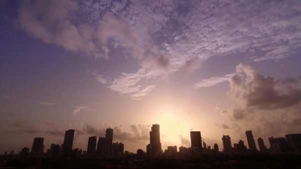 Sunset Timelapse of a developing city Mumbai India Royalty-free stock video