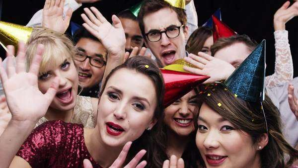 Slow motion party photo booth Royalty-free stock video