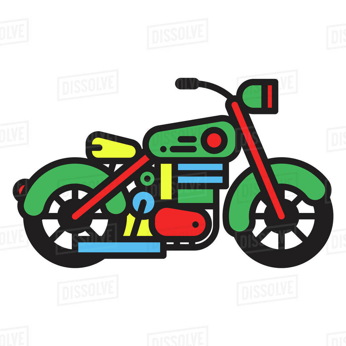 Illustration of a motorbike against white background Royalty-free stock photo