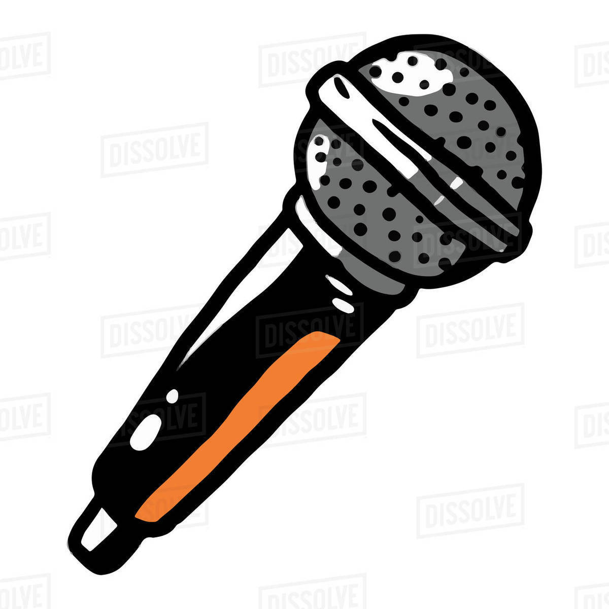 Illustration of microphone isolated on white background Royalty-free stock photo